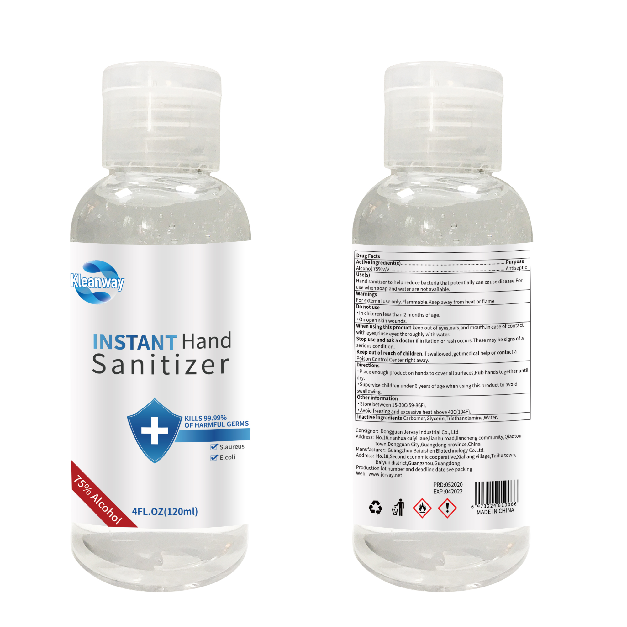 4zo 75%alcohol Antibacterial Liquid Hand Soap for Office